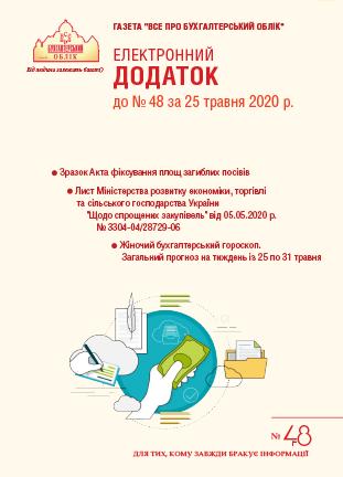 Додаток до № 48 за 2020 р.